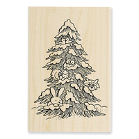 Stampendous - Wood Mounted Stamps - Forest Christmas