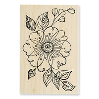 Stampendous - Wood Mounted Stamps - Big Floral Pop