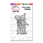 Stampendous - Pink Your Life - Cling Mounted Rubber Stamps - Whisper Friendship