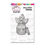 Stampendous - Pink Your Life - Cling Mounted Rubber Stamps - Whisper Jam