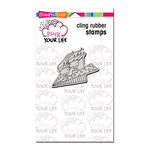 Stampendous - Pink Your Life - Cling Mounted Rubber Stamps - Whisper Fly High