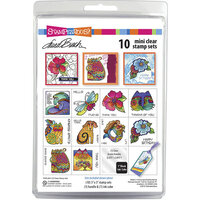 Stampendous - Clear Acrylic Stamps - Laurel Burch Mini Clear Stamp Set