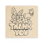 Stampendous - Wood Mounted Stamps - Chunky Thank You