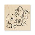 Stampendous - Wood Mounted Stamps - Pansies