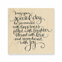 Stampendous - Wood Mounted Stamps - Special Day