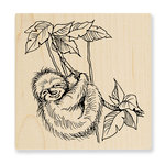 Stampendous - Wood Mounted Stamps - Sloth Swing