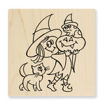 Stampendous - Halloween - Wood Mounted Stamps - Witchy Friends