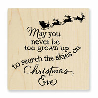 Stampendous - Christmas - Wood Mounted Stamps - Christmas Sky