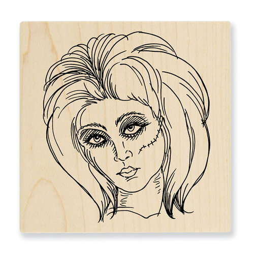 Stampendous - Halloween - Wood Mounted Stamps - Zombie Girl
