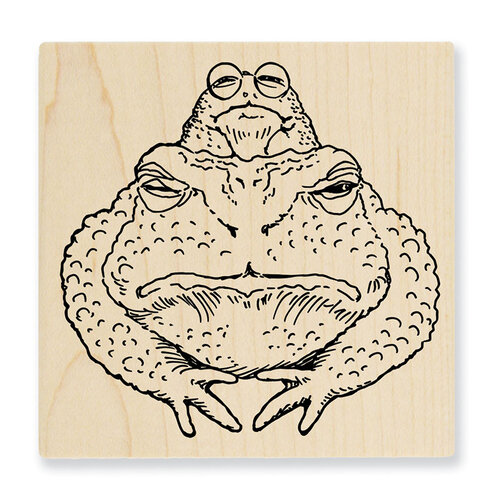 Stampendous - Wood Mounted Stamps - Toad Twosome