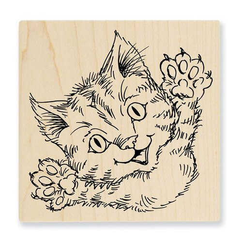 Stampendous - Wood Mounted Stamps - Cat Attack