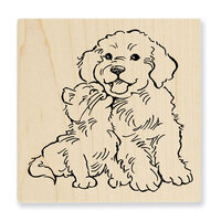Stampendous - Wood Mounted Stamps - Kitty Kiss
