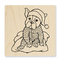 Stampendous - Christmas - Wood Mounted Stamps - Pajama Pup