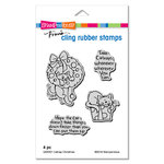Stampendous - Christmas - Cling Mounted Rubber Stamps - Catnap Christmas