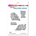 Stampendous - Christmas - Cling Mounted Rubber Stamps - Puppy Presents