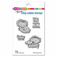 Stampendous - Christmas - Cling Mounted Rubber Stamps - Kiddos Hugs