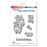 Stampendous - Christmas - Cling Mounted Rubber Stamps - Fa La Llama