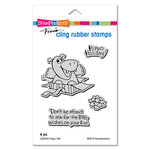 Stampendous - Christmas - Cling Mounted Rubber Stamps - Hippo Gift