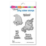 Stampendous - Christmas - Cling Mounted Rubber Stamps - Unicorn Believe