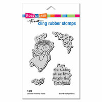 Stampendous - Christmas - Cling Mounted Rubber Stamps - Heavenly Kiddo