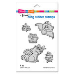 Stampendous - Halloween - Cling Mounted Rubber Stamps - Batty Cat