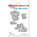 Stampendous - Cling Mounted Rubber Stamps - Little Red