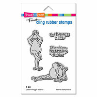 Stampendous - Cling Mounted Rubber Stamps - Froggie Balance