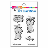 Stampendous - Cling Mounted Rubber Stamps - No Probllama
