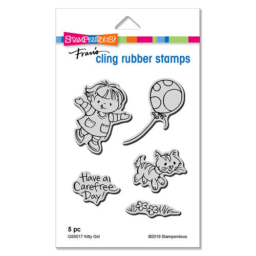 Stampendous - Cling Mounted Rubber Stamps - Kitty Girl