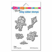 Stampendous - Cling Mounted Rubber Stamps - Puppy Boy