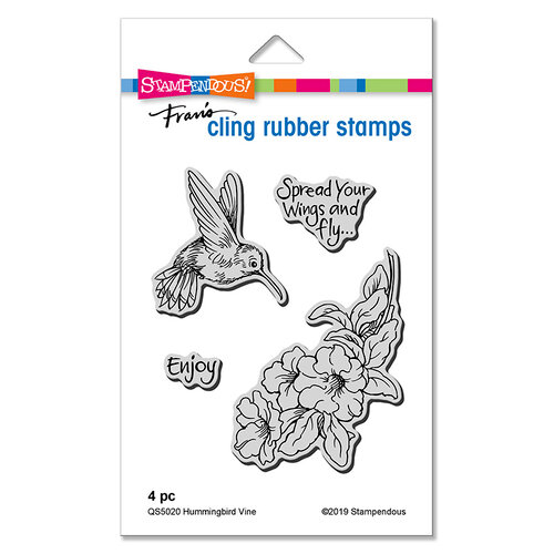 Stampendous - Cling Mounted Rubber Stamps - Hummingbird Vine