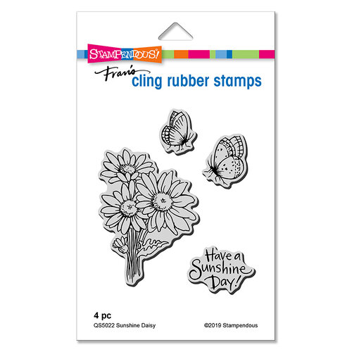 Stampendous - Cling Mounted Rubber Stamps - Sunshine Daisy