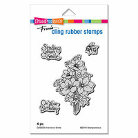 Stampendous - Cling Mounted Rubber Stamps - Anemone Smile