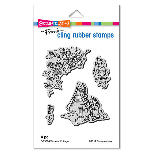 Stampendous - Cling Mounted Rubber Stamps - Wisteria Cottage