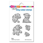 Stampendous - Cling Mounted Rubber Stamps - Puppy Playmates