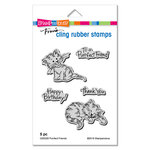 Stampendous - Cling Mounted Rubber Stamps - Purrfect Friends