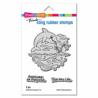 Stampendous - Cling Mounted Rubber Stamps - Porpoise Fun