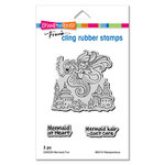 Stampendous - Cling Mounted Rubber Stamps - Mermaid Fun