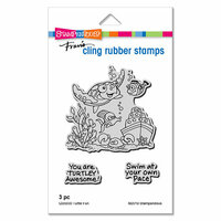 Stampendous - Cling Mounted Rubber Stamps - Turtle Fun