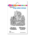 Stampendous - Cling Mounted Rubber Stamps - Pirate Fun