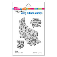 Stampendous - Cling Mounted Rubber Stamps - Rose Gift
