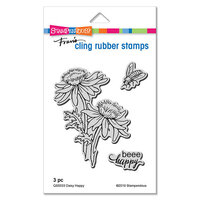 Stampendous - Cling Mounted Rubber Stamps - Daisy Happy
