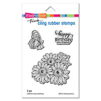 Stampendous - Cling Mounted Rubber Stamps - Daisy Birthday