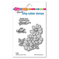 Stampendous - Cling Mounted Rubber Stamps - Cosmos Friend
