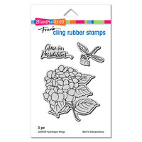 Stampendous - Cling Mounted Rubber Stamps - Hydrangea Wings