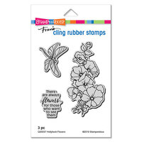 Stampendous - Cling Mounted Rubber Stamps - Hollyhock Flowers