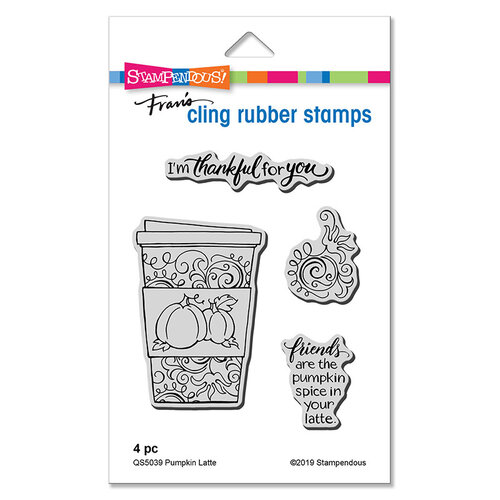 Stampendous - Cling Mounted Rubber Stamps - Pumpkin Latte