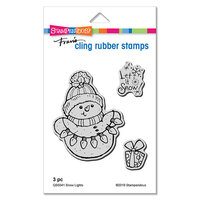 Stampendous - Christmas - Cling Mounted Rubber Stamps - Snow Lights