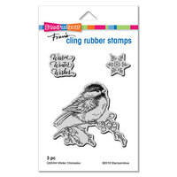 Stampendous - Cling Mounted Rubber Stamps - Winter Chickadee