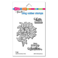 Stampendous - Cling Mounted Rubber Stamps - Sunflower Hello